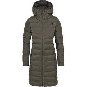 The North Face Stretch Down Parka Women New Taupe Green